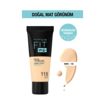 Maybelline New York Fit Me Matte Poreless Fondöten 118 Nude