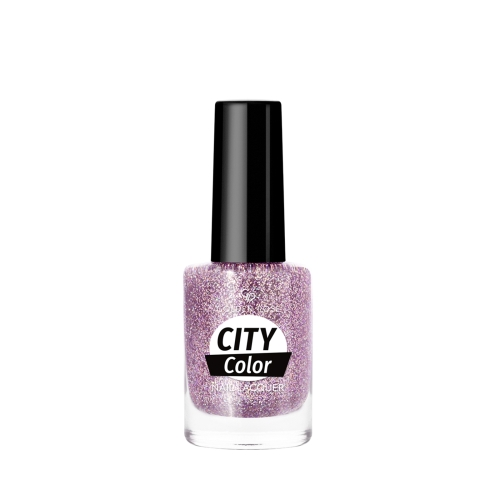 Golden Rose City Color Nail Lacquer Glitter 102