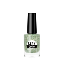 Golden Rose City Color Nail Lacquer Glitter 104