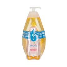 Johnsons Baby Gold Şampuan 750 Ml+Johnsons Baby Yağ 200 Ml Hediye
