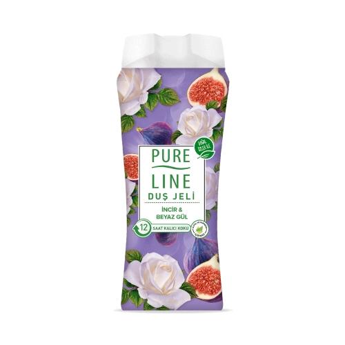 Pure Line İncir ve Beyaz Gül Duş Jeli 400 Ml