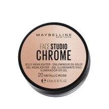 Maybelline New York Face Studio Chrome Jel Aydınlatıcı - 20 Metallic Rose