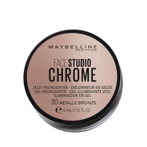 Maybelline New York Face Studio Chrome Jel Aydınlatıcı - 30 Metallic Bronze