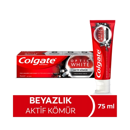 Colgate Optic White Aktif Kömür Beyazlatıcı Diş Macunu 75 Ml