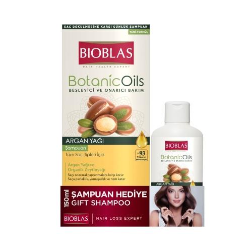 Bioblas Botanic Oils Şampuan Argan Yağlı 360 Ml + 150 Ml Argan Şampuan