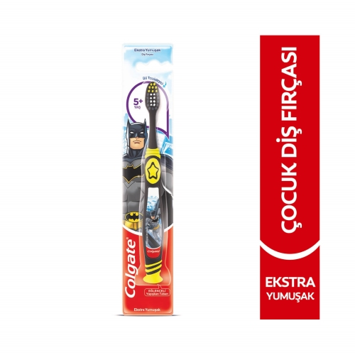 Colgate Barbie Batman 5+Yaş Ekstra Yumuşak 0 Çocuk Diş Fırçası