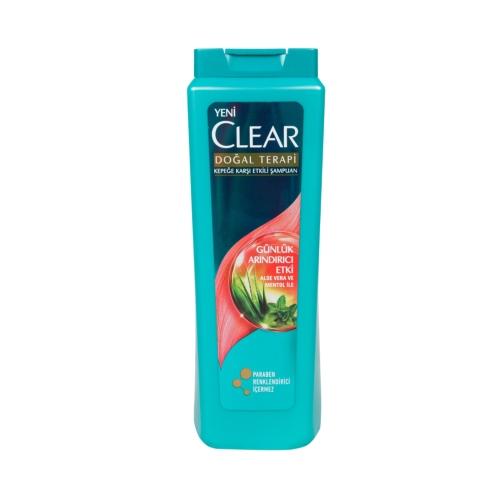 Clear Şampuan Günlük Arındırıcı Etki Aloe Vera ve Mentol 600 Ml