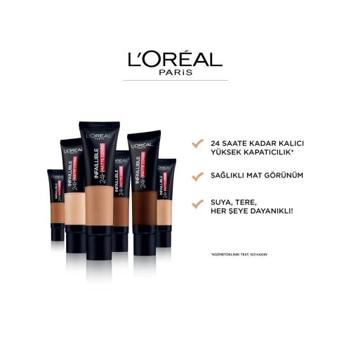 L'Oréal Paris Infaillible 24H Matte Cover Yüksek Kapatıcı Fondöten - 155 Natural Rose