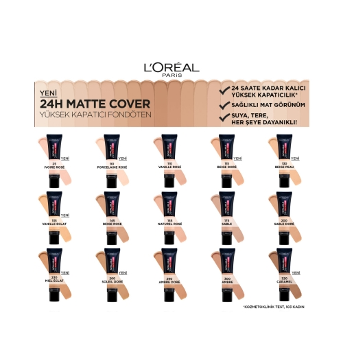 L'Oréal Paris Infaillible 24H Matte Cover Yüksek Kapatıcı Fondöten - 290 Golden Amber