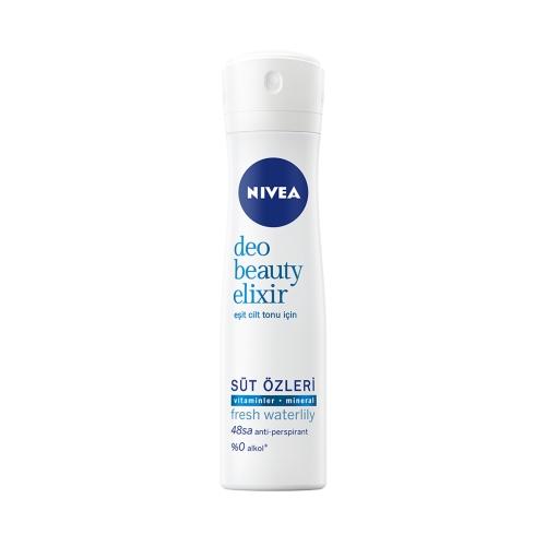 Nivea Deodorant Sprey Beauty Elixir Fresh Waterlily Women 150 Ml