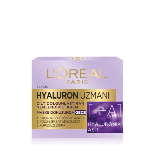 L'Oréal Paris Hyaluron Uzmanı Nemlendirici Gece Kremi 50 Ml