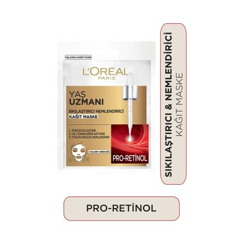 L'Oréal Paris Yaş Uzmanı 40+ Sıkılaştırıcı Kağıt Yüz Maskesi 1 Adet