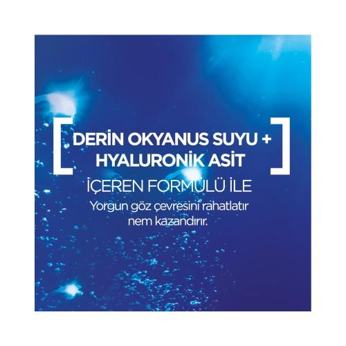 Garnier Nem Bombası Günün Yorgunluklarına Karşı Gece Kağıt Göz Maskesi Derin Okyanus Suyu & Hyaluronik Asit 1 Adet