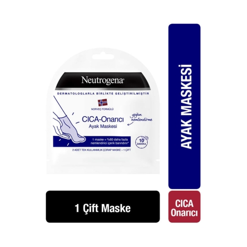 Neutrogena CICA Onarıcı Ayak Maskesi 2 Adet Tek Kullanımlık - 1 Çift