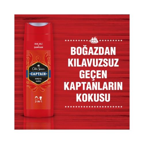 Old Spice Captain Şampuan + Duş Jeli 400 Ml