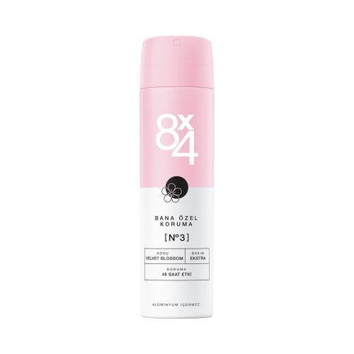 8X4 Deo Sprey No:3 Velvet Blossom 150 Ml Kadın