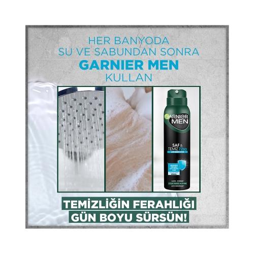 Garnier Men Deodorant Sprey Saf ve Temiz 150 Ml