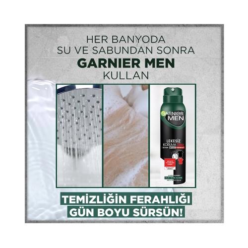 Garnier Men Deodorant Sprey Lekesiz Koruma 150 Ml