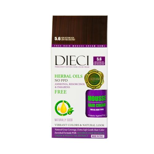 Dieci Herbal Oil  Amonyaksız Kit Boya 5.6 Açık Kestane Kızıl