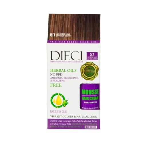 Dieci Herbal Oil  Amonyaksız Kit Boya 5.7 Açık Kestane Kakao