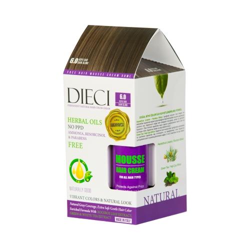 Dieci Herbal Oil  Amonyaksız Kit Boya 6.0  Koyu Sarı