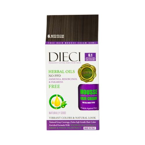 Dieci Herbal Oil  Amonyaksız Kit Boya 6.1 Orta Küllü Sarı