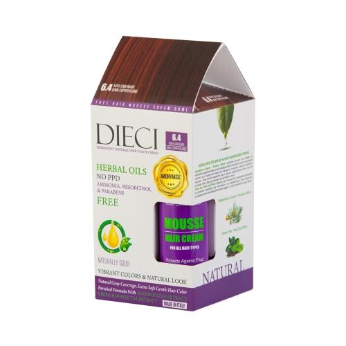 Dieci Herbal Oil  Amonyaksız Kit Boya 6.4 Koyu Sarı Bakır