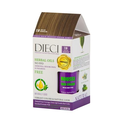 Dieci Herbal Oil  Amonyaksız Kit Boya 7.0 Orta Sarı