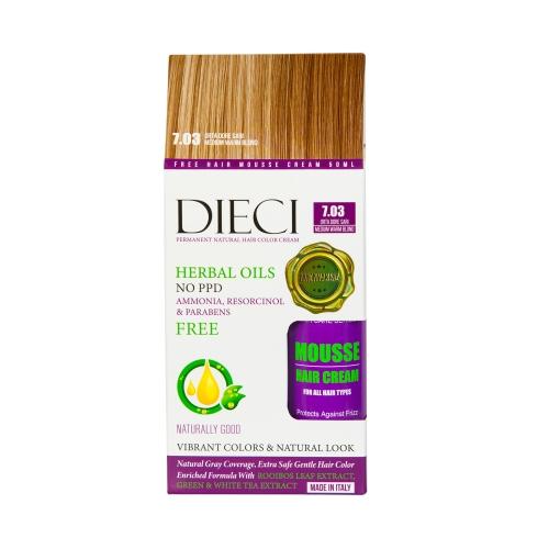 Dieci Herbal Oil Amonyaksız Kit Boya 7.03 Orta Dore Sarı