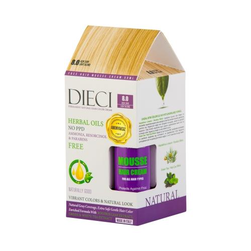 Dieci Herbal Oil  Amonyaksız Kit Boya 8.0 Açık Sarı