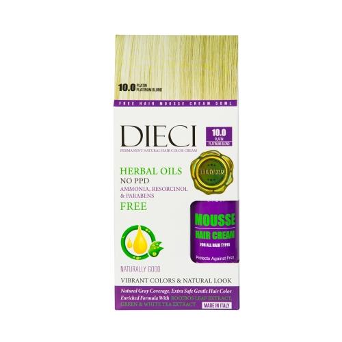 Dieci Herbal Oil  Amonyaksız Kit Boya 10.00 Platin