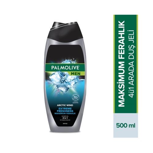Palmolive Men Extreme Freshness 4'ü 1 Arada Vücut ve Saç için Duş Jeli ve Şampuan 500 Ml