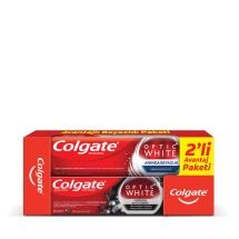 Colgate Optik Aktif  Kömür 75 Ml  Diş Macunu + Anında Beyazlık 75 Ml Diş Macunu