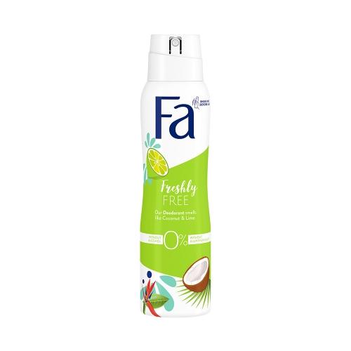 Fa Deodorant Freshly Free Lime & Coconut 150 Ml