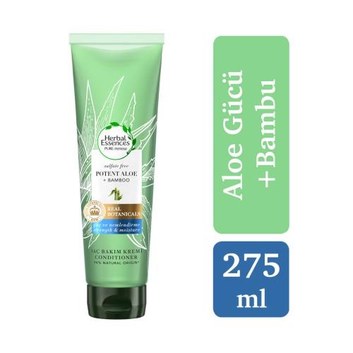 Herbal Essences Aloe Gücü + Bamboo Sülfatsız Saç Bakım Kremi 275 Ml