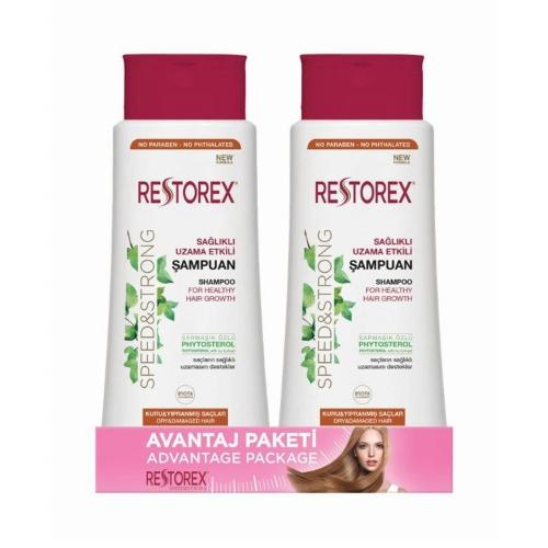 Restorex Şampuan Kuru/Yıpranmış Saçlar İçin 500 Ml 1+1
