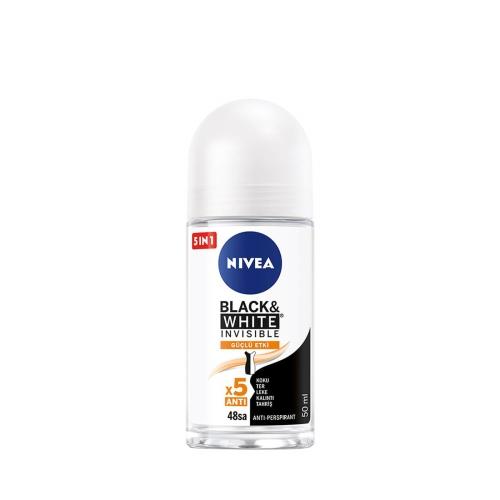 Nivea Deodorant Roll-On Invisible Black&White Güçlü Etki Kadın 50 Ml