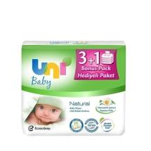 Uni Baby Natural Islak Havlu 3+1 Paket