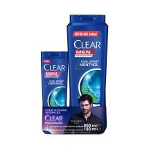 Clear Men Cool Sport Menthol Şampuan 600 Ml ve 180 Ml Seti