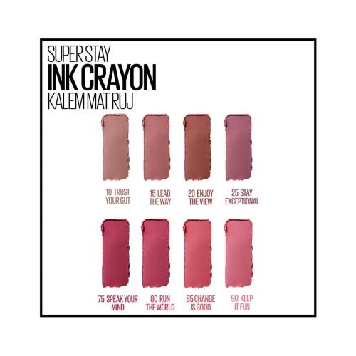Maybelline New York Süper Stay Ink Crayon Kalem Mat Ruj 15-Lead The Way