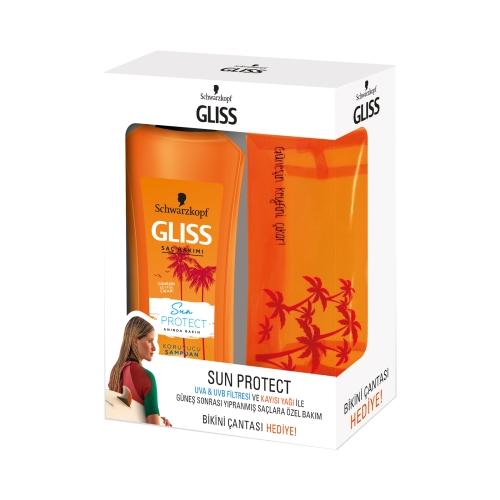 Gliss Şampuan Sun Protect (Güneş Koruyucu) 500 Ml + Çanta Hediye