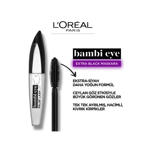 L'Oréal Paris Bambi Eye False Lash Ekstra Siyah No:01