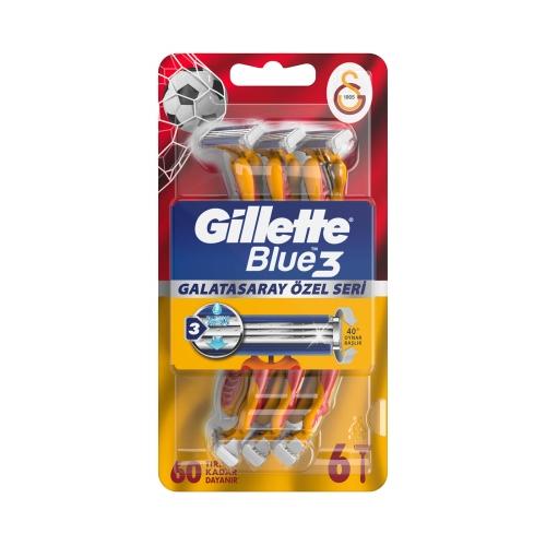 Gillette Blue3 6'lı Galatasaray Taraftar Özel Seri