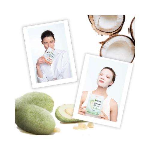 Garnier Süt Bombası Besleyici Kağıt Yüz Maskesi Yoğun Besleme + Işıltı 1 Adet
