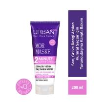 Urban Care Mor Maske 2 Dakika Günlük Yoğun Saç Bakım Kürü 200 Ml