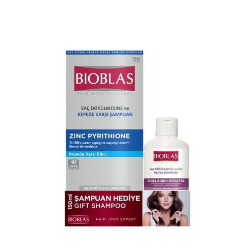 Bioblas Kepeğe Karşı Şampuan 360 Ml + Collagen Şampuan 150 Ml