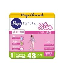 Sleepy Natural Slim Ekstra İnce Normal 48'li Ped (Mega Paket)