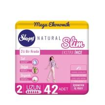Sleepy Natural Slim Ekstra İnce Uzun 42'li Ped (Mega Paket)