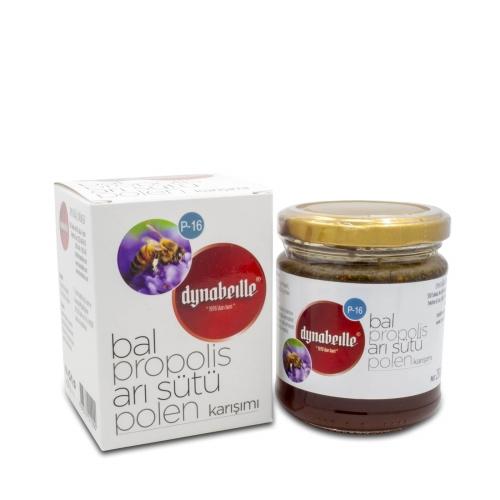 Dynabeille Arı Sütü+Bal+Polen+Propolis Karışımı Kavanoz 230 Gr. (P-16)