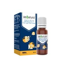 Venatura Vitamin D3 K2 Menaquinon 7 Takviye Edici Gıda 500 Damla 20 Ml